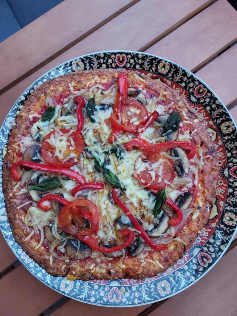 Recept voor de gezondste en lekkerste  pizza.
